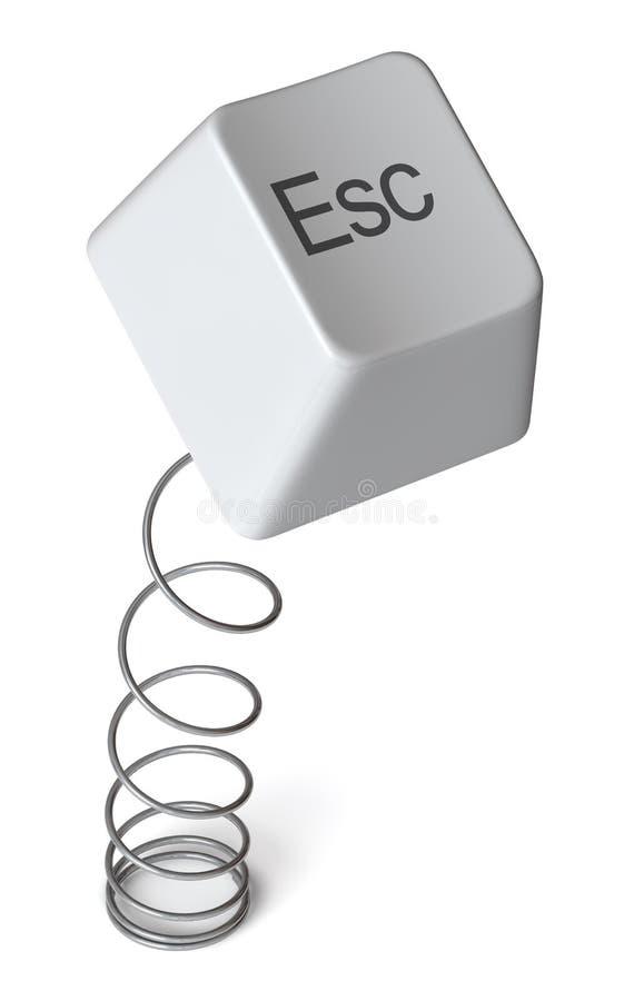 computer escape isolated 库存例证