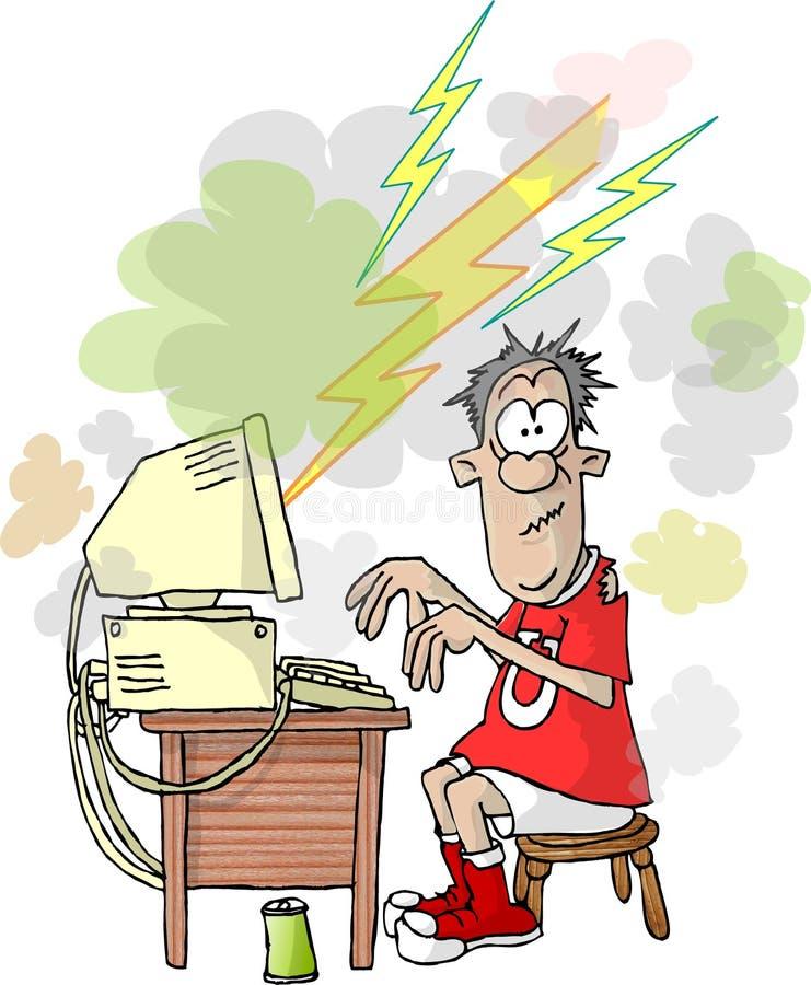 Computer failure stock illustration