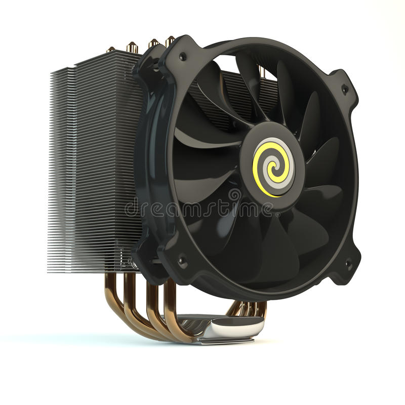Download Computer fan stock illustration. Image of close, mainboard - 24556328
