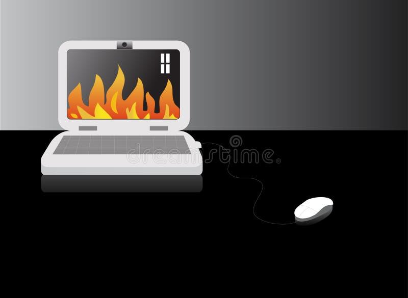 Computer-Feuer vektor abbildung