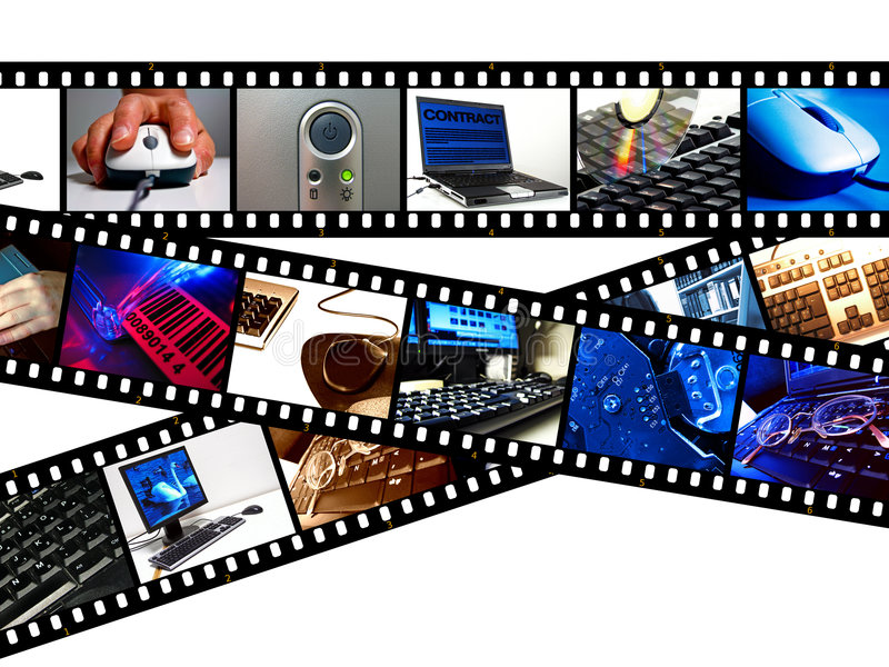 Computer Filmstrips stock images