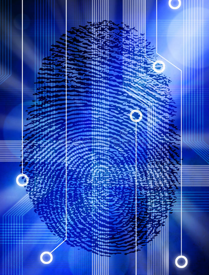 Computer Fingerprint Technology Security Identity royalty free illustration