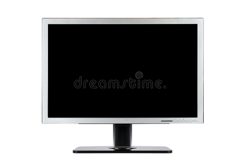 Computer flat wide screen royalty free stock images