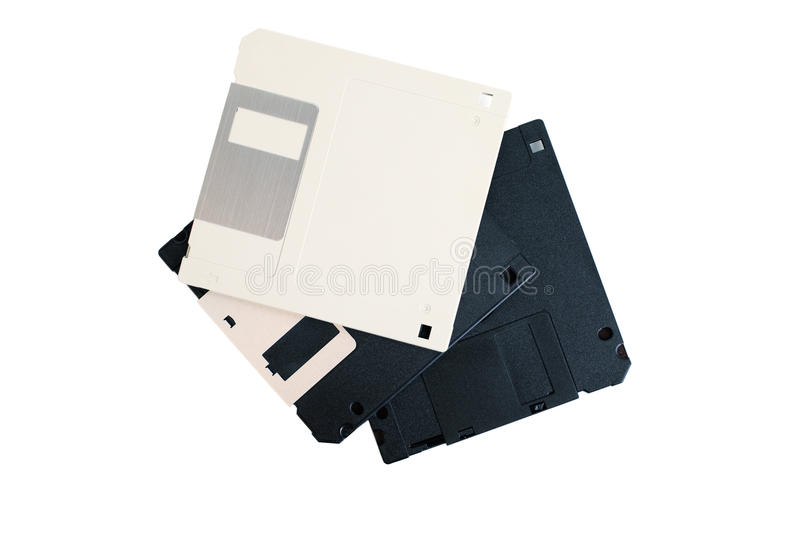 Computer floppy disks isolated on white