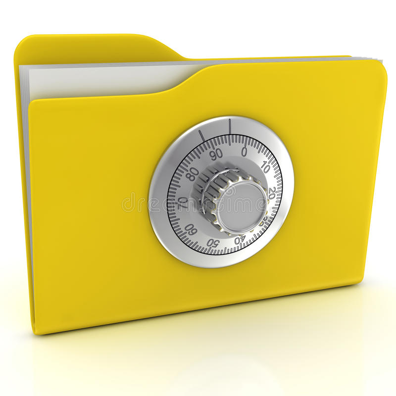 Download Computer Folder With Combination Lock. Stock Images - Image: 26989574