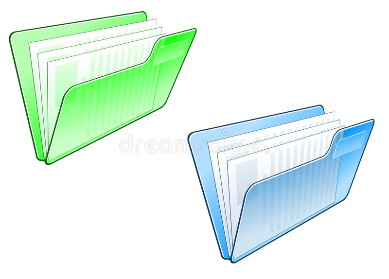 Computer folder icon stock illustration