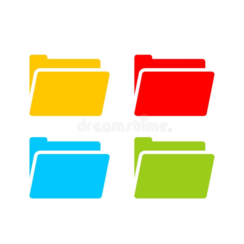 Computer folder vector icon. S set vector illustration