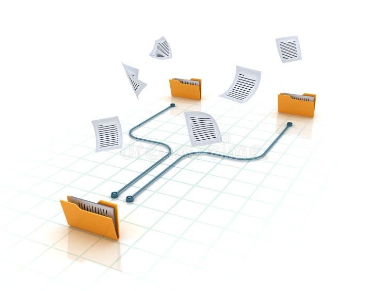 Computer Folders. High Quality 3D Rendering stock illustration