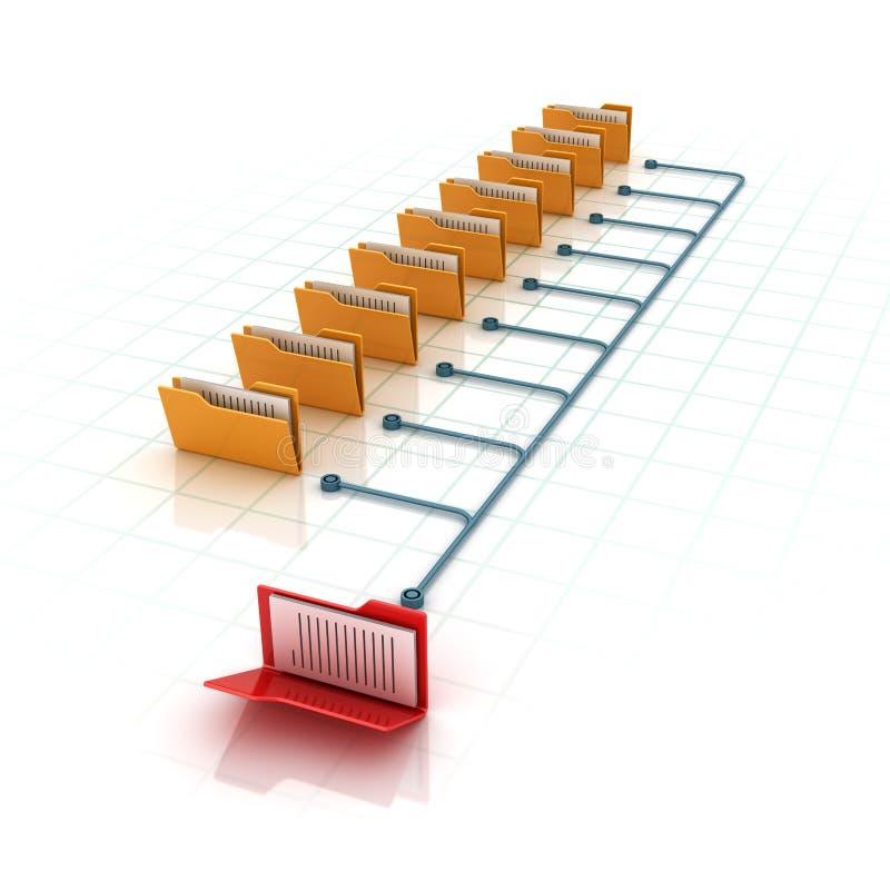 Computer Folders. High Quality 3D Rendering vector illustration