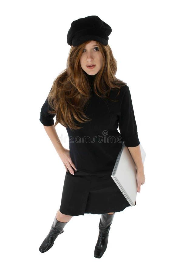 Computer-Frau lizenzfreies stockfoto