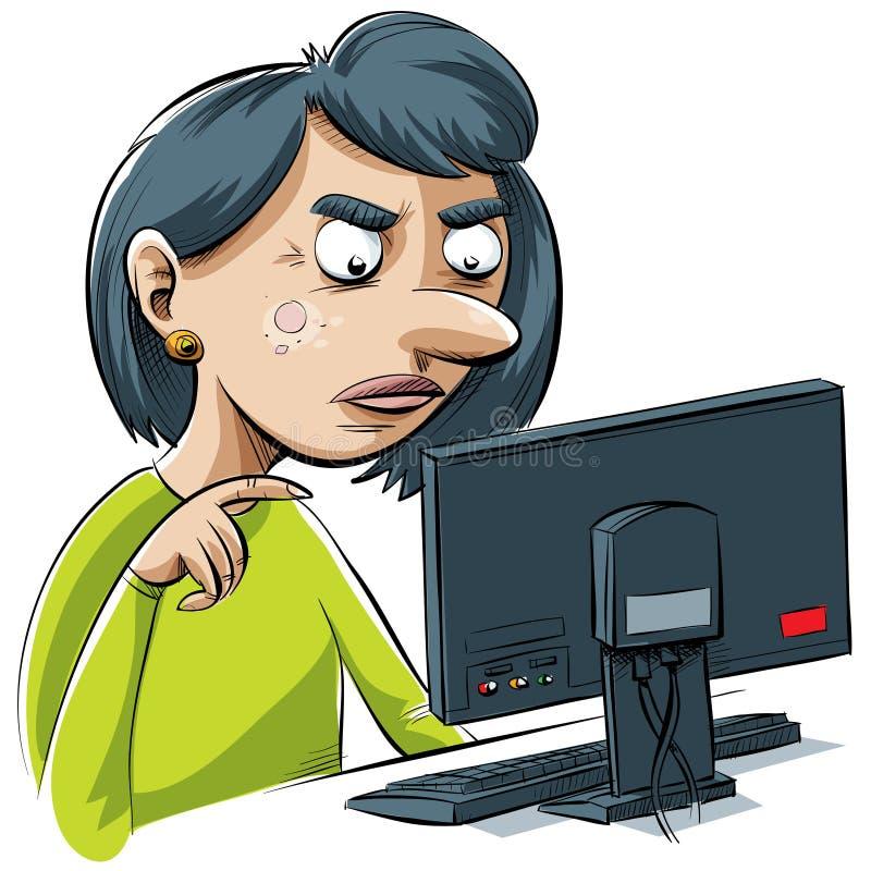 Computer-Frustration lizenzfreie abbildung