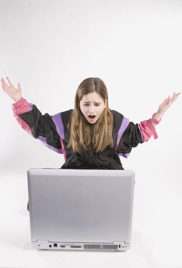 Computer Frustration royalty free stock photo