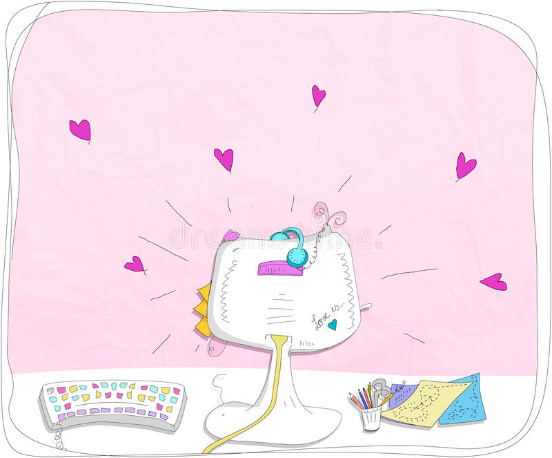 Download Pink computer stock illustration. Image of decoration - 33030939