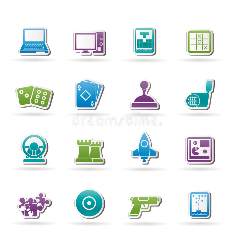 Computer Games Tools And Icons Royalty Free Stock Photos