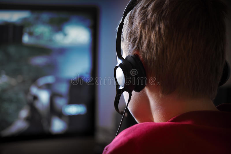 Computer Gaming stock photography