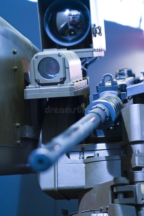Computer-geführtes Maschinengewehr lizenzfreie stockbilder