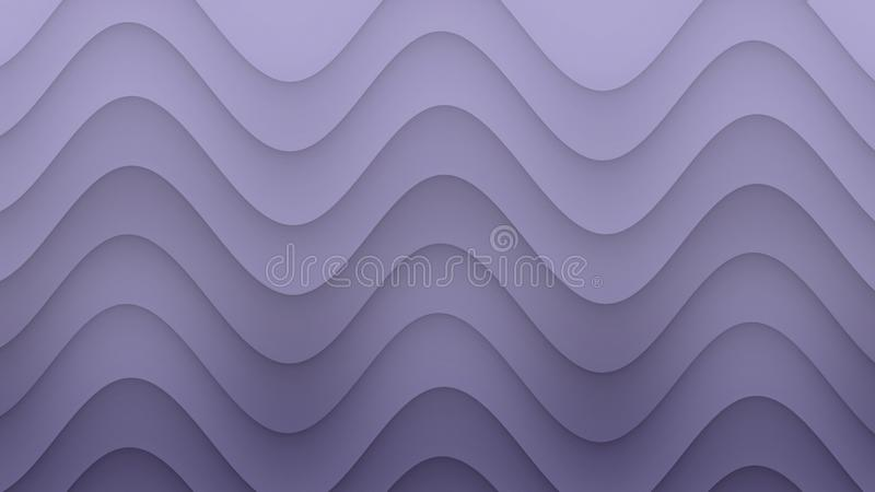 Smooth rolling curves abstract background illustration in gradient shades of lilac purple. Computer generated abstract background illustration featuring a vector illustration