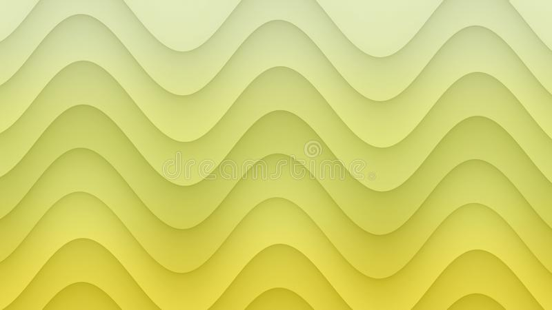 Smooth rolling curves abstract background illustration in gradient shades of sunny yellow vector illustration