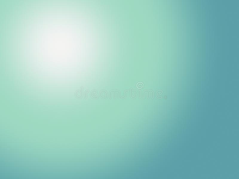 Soft blue green with light spot abstract blur gradient background paper illustration. Computer generated abstract background paper illustration in a beautiful vector illustration