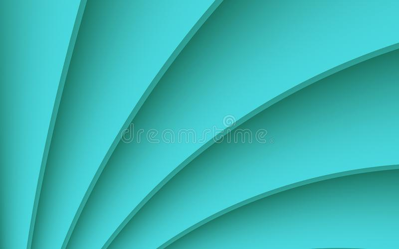 Fresh aqua blue crisp diagonal 3d contoured curves abstract fractal background wallpaper illustration. Computer generated abstract fractal background vector illustration