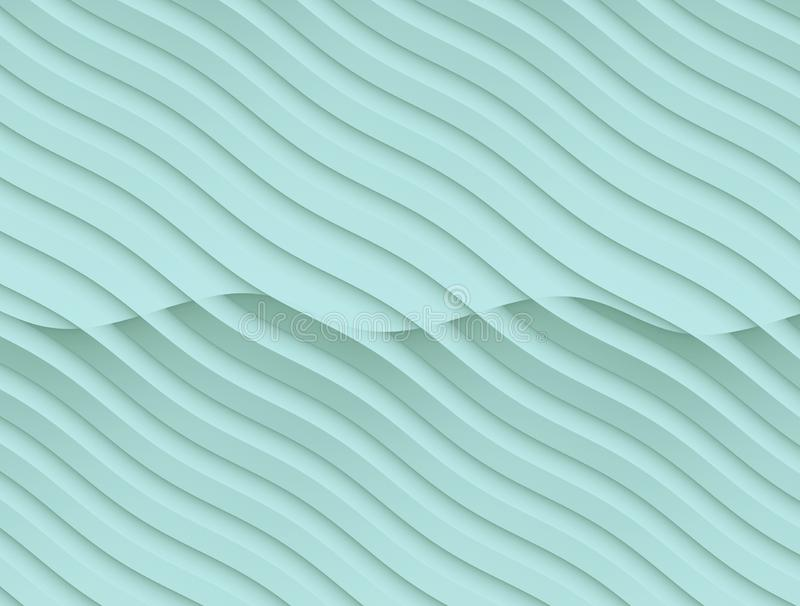 Pale ice blue flowing curves abstract wallpaper background illustration royalty free illustration