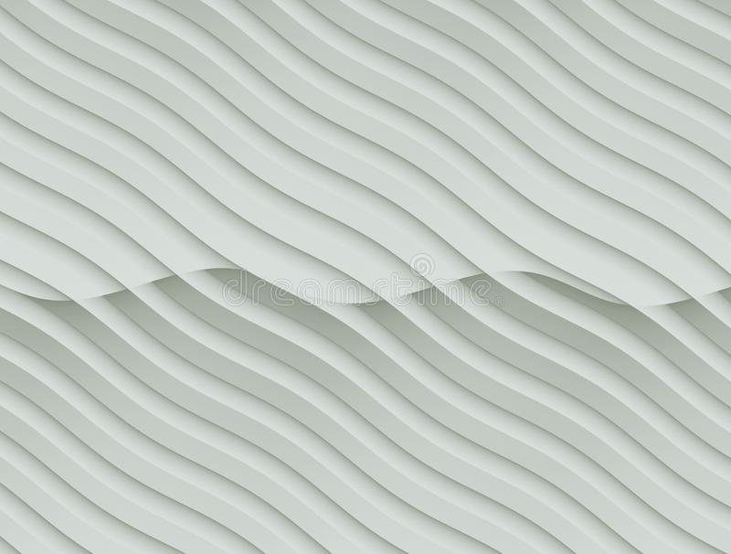 Neutral silver gray and white flowing curves abstract wallpaper background illustration vector illustration