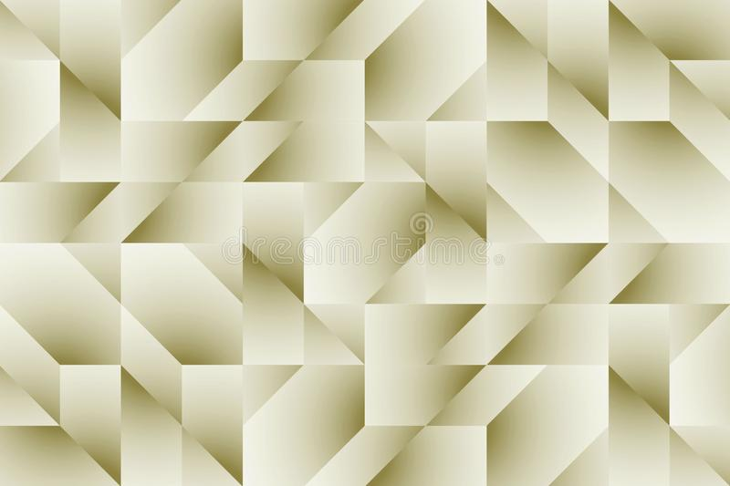 Ivory beige gleaming abstract geometric lines and angles wallpaper background illustration. vector illustration