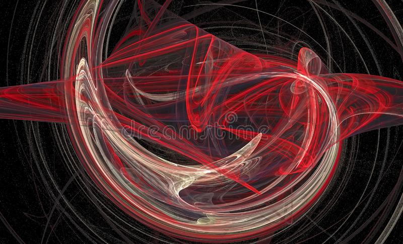 Computer generated abstract spiral fractal flame image stock illustration
