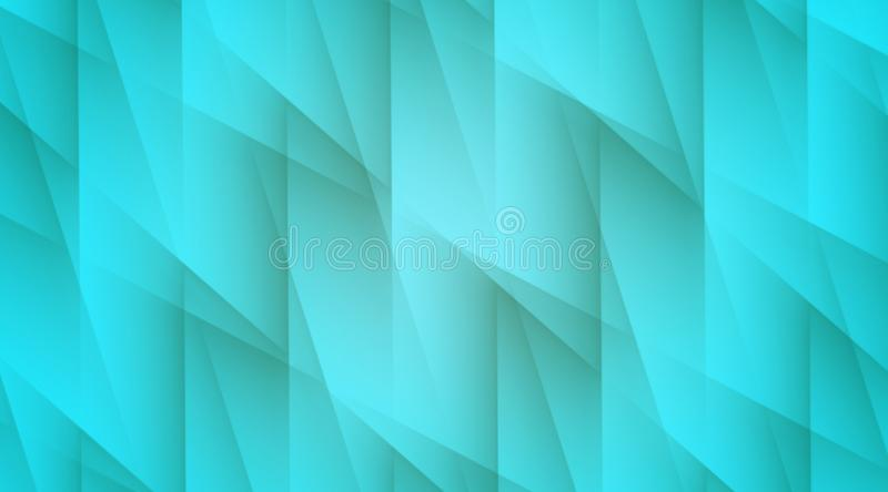Bright aqua blue lines and angles geometric abstract wallpaper background illustration stock illustration