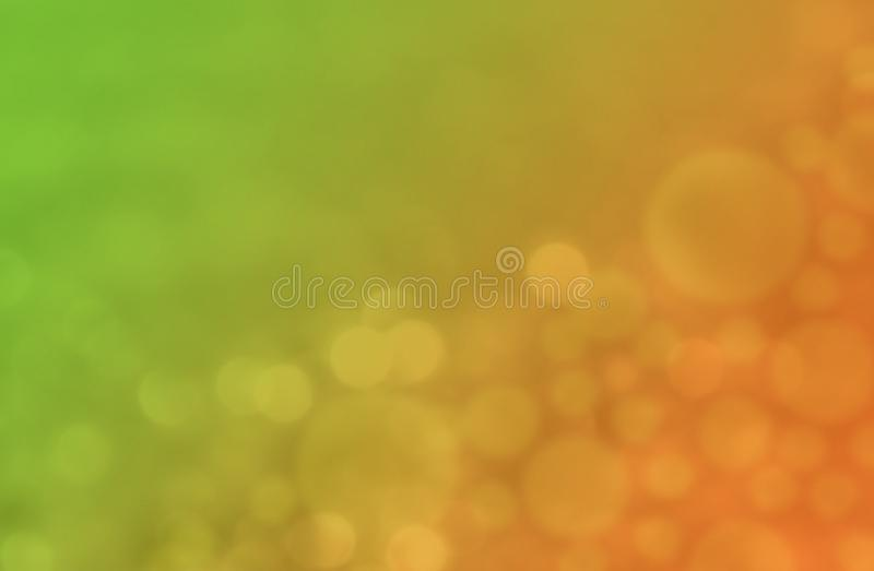 Bright citrus green and orange colorful bokeh abstract wallpaper background illustration. vector illustration