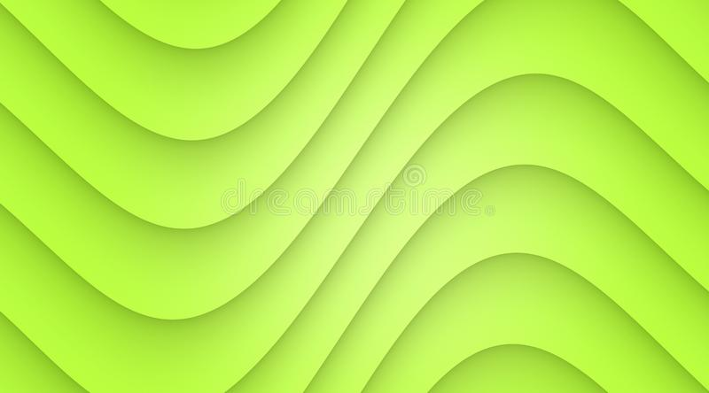 Vibrant green smooth symmetric curves abstract wallpaper background illustration royalty free illustration