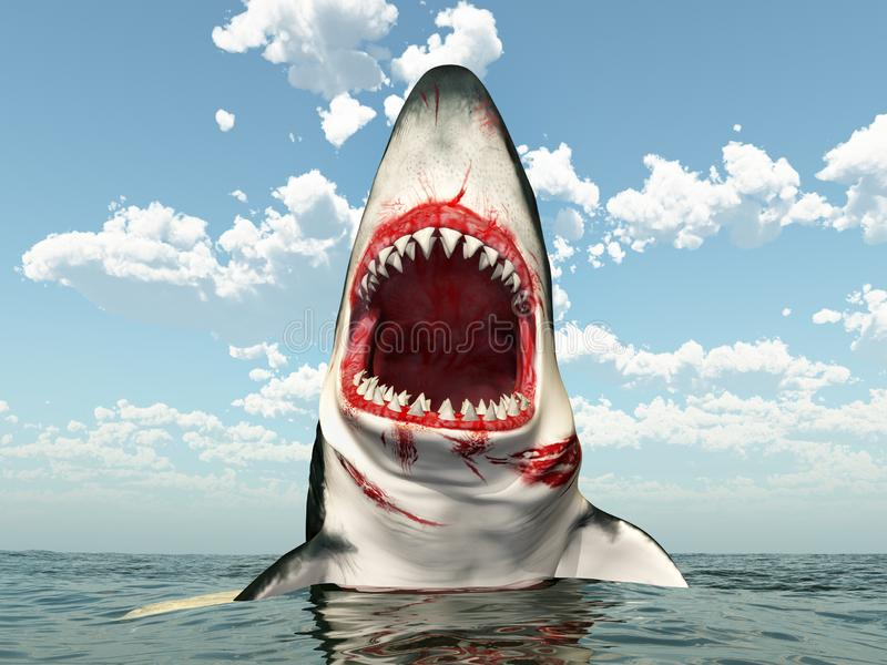 Shark Jumping Out Water Stock Illustrations – 21 Shark