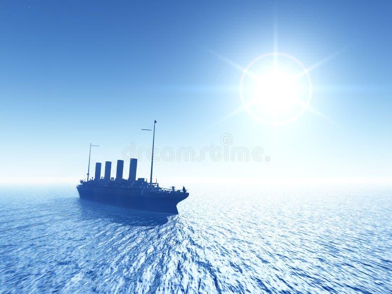 Download Ocean Liner stock illustration. Image of history, atlantic - 29769345