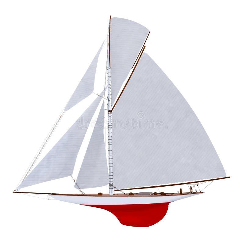 Sailing yacht isolated on white background stock illustration