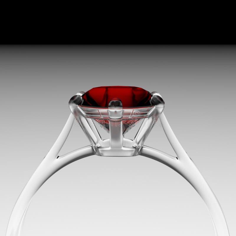 Computer Generated Diamond Ring Stock Photo