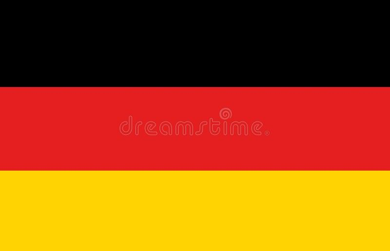 A computer generated graphics illustration of the flag of Germany.  stock illustration