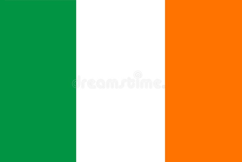 A computer generated graphics illustration of the flag of Ireland royalty free illustration