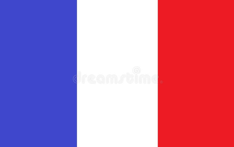 A computer generated illustration of the France flag vector illustration