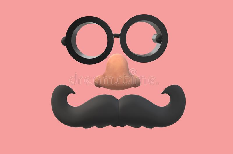 An image of a set of groucho glasses stock image