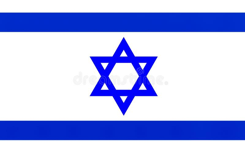An illustration of the Israel flag. A computer generated illustration of the Israel country flag stock illustration