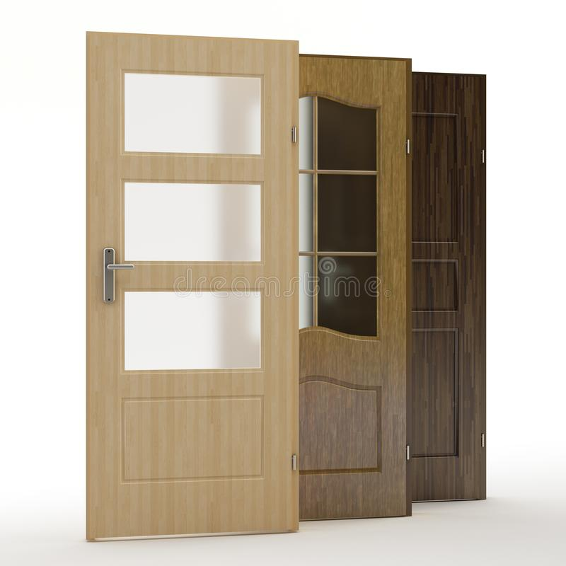 The Doors, 3D illustration royalty free stock photos