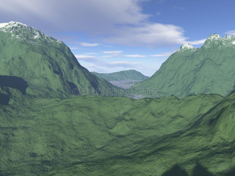 Computer-generated Mountain Landscape