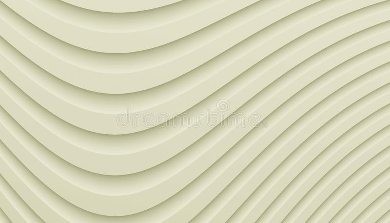 Almond ivory smooth dipping curves abstract background illustration. Computer generated smooth dipping curves abstract wallpaper background pattern illustration vector illustration