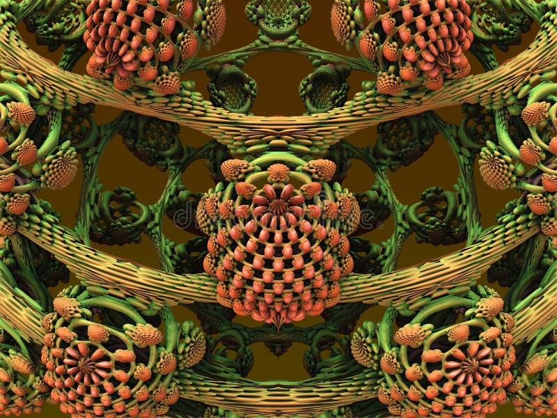Computer geproduceerd fractal kunstwerk stock illustratie