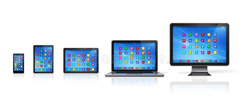 Computer-Geräte eingestellt lizenzfreie abbildung