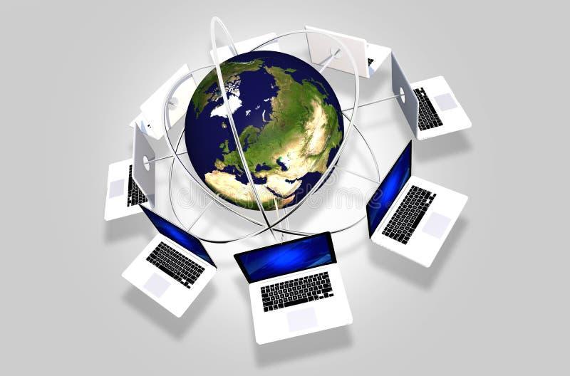 Computer-globales Netzwerk lizenzfreie abbildung