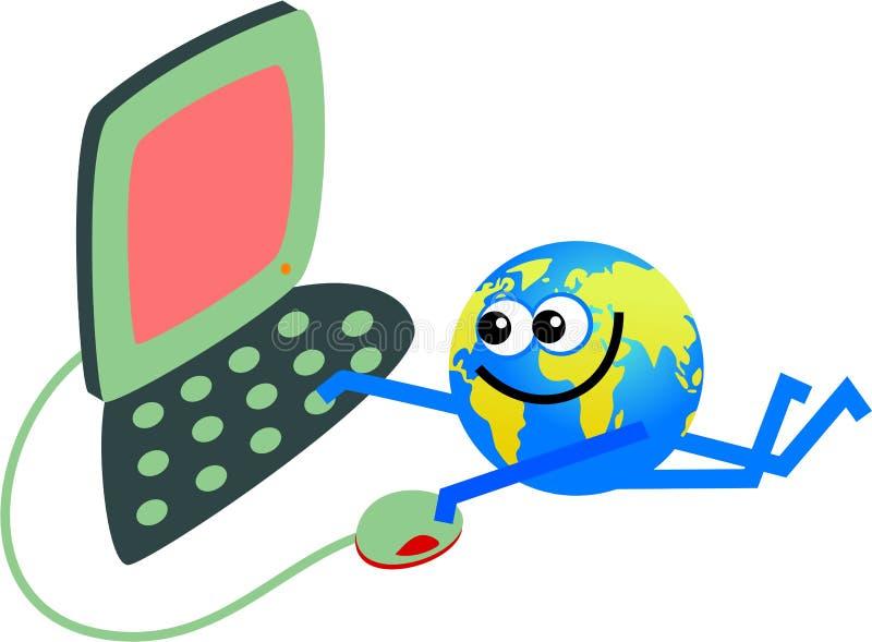 Computer globe royalty free illustration