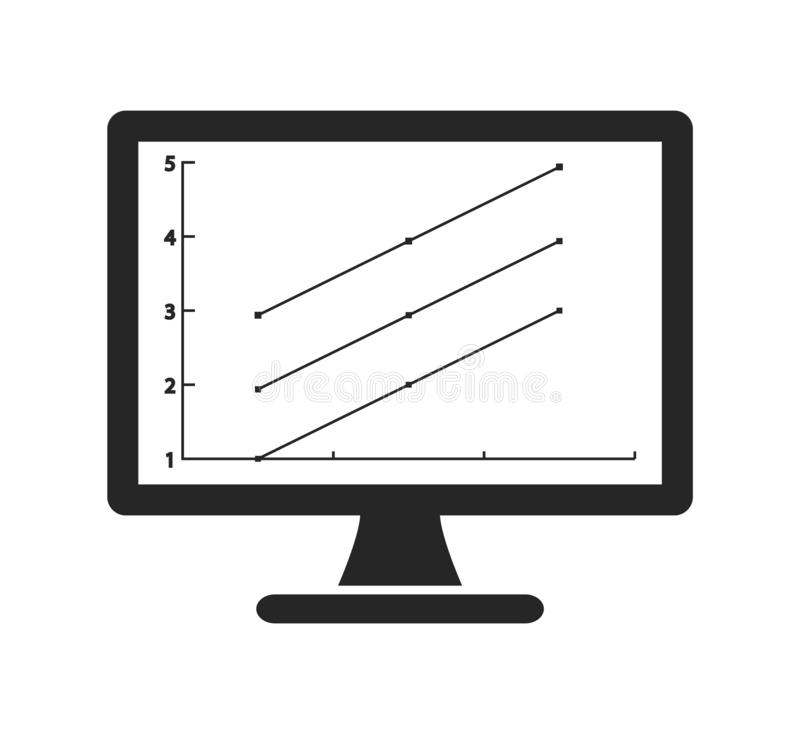 Computer Graph Icon . Flat style vector EPS royalty free illustration