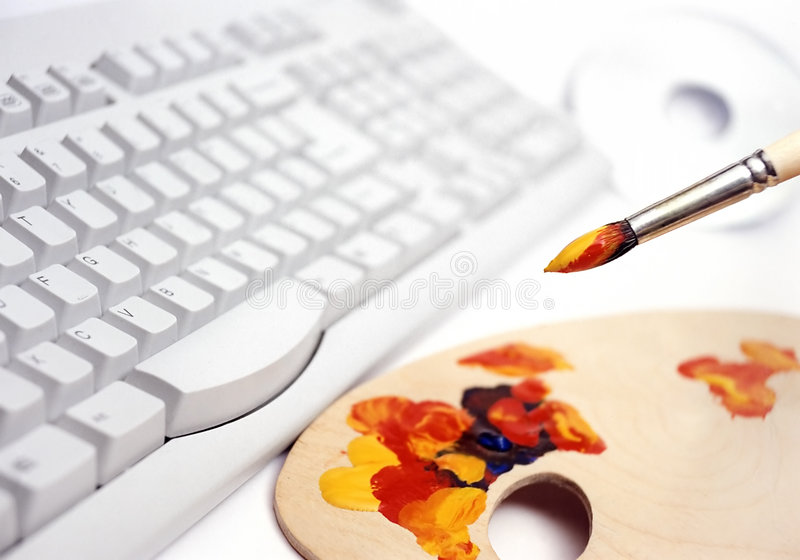 Computer graphic design stock image