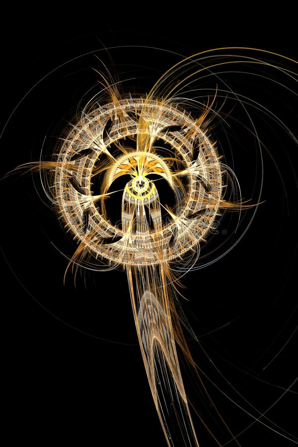 Computer graphic Dreamcatcher Fractal graphic abstract background Digital art design royalty free illustration